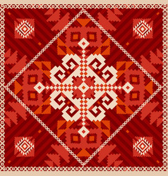 snowflake ornament in ethnic style vector image