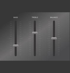 Sound equalizer control vector