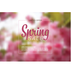 Spring abstract floral flyer vector