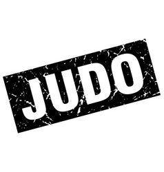Square grunge black judo stamp vector