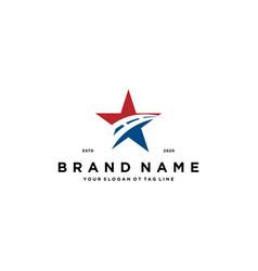 Star road logo design vector