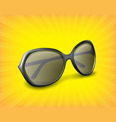 sunglasses 3d icon vector image