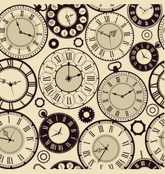 vintage clock pattern old retro watches vector image