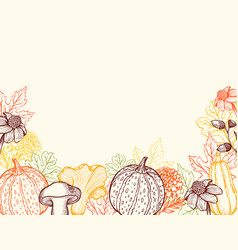 vintage floral autumn background vector image