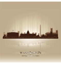 Washington District of Columbia skyline city silho vector