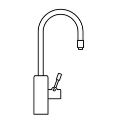 Water tap purification icon outline style vector