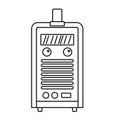 welding device icon outline style vector image