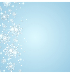 Winter holidays background vector image