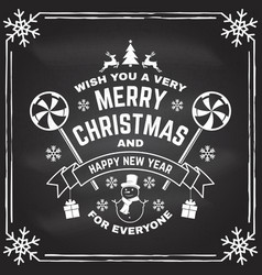 wish you a very merry christmas and happy new year vector image
