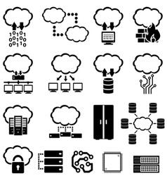 Big data and cloud computing vector image vector image