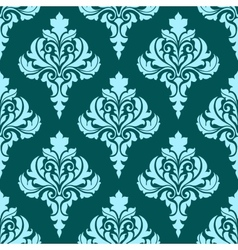 Floral seamless pattern with blue flowers on dark vector image vector image