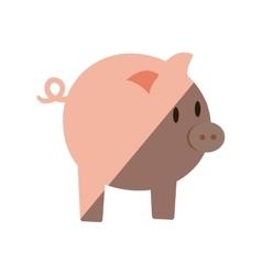 piggy money bank flat icon vector image