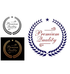 Premium quality laurel wreath logo or emblem vector image vector image