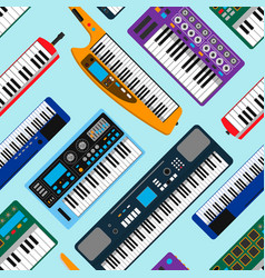 synthesizer piano musical equipment seamless vector image vector image
