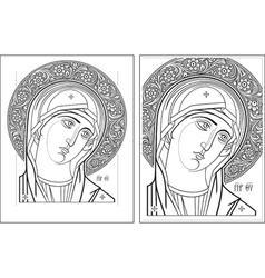 Virgin Oplechnaya outline11-12 picture vector image vector image