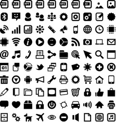 android icons vector image vector image