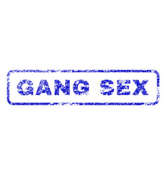 gang sex rubber stamp vector image vector image