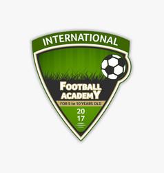 green soccer logo football logotype vector image