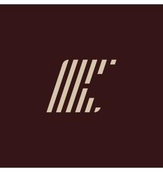 Isolated geometric white color alphabet letter k vector