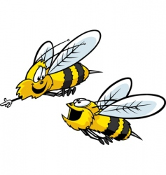 bumble bees vector image vector image