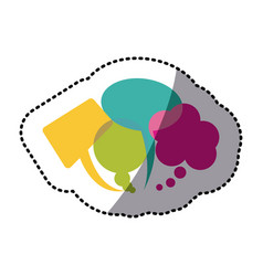color types of chat bubbles icon vector image