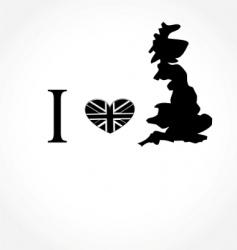 I love UK vector image