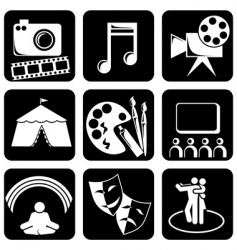 icons art vector image vector image