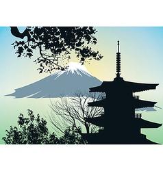 Japanese gate Torii vector image vector image
