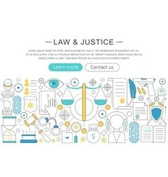 modern line flat design Law and justice vector image vector image