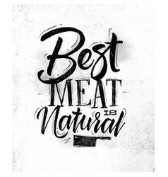 poster best meat vector image vector image