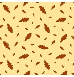 Seamless pattern autumn leaves oak vector image