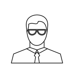 Businessman icon outline style vector image