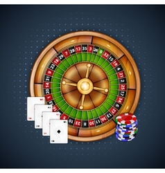 Cards chips and roulette vector image