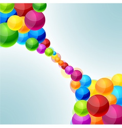 Colorful balls background vector image