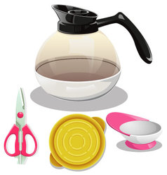 Kitchen equipment set Large vector image