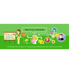 Practical Training Concept vector image