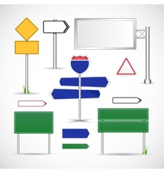 Road Signs Template vector image