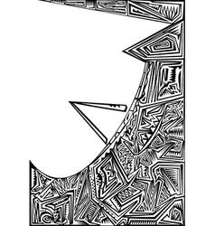 Stencil design vector image vector image