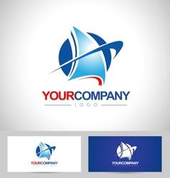 Yacht Boat Logo Design vector image vector image