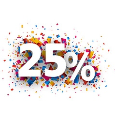25 sale sign vector image