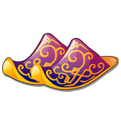 a pair slippers traditional oriental design vector image