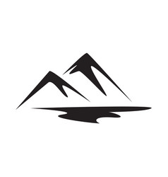 abstract mountain logo nature or outdoor vector image