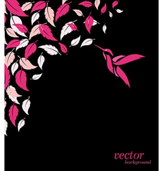 Abstract pink leaf and hummingbirds background vector image
