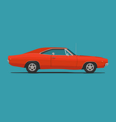 American classic muscle car vector