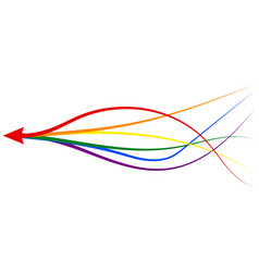 Arrow formed multiple merging lgbt pride vector