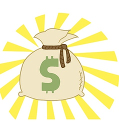 Bag of Cash vector image