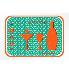 Bar - label with cocktail vector image vector image