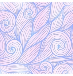 Blue and pink trendy colors hand drawn curly waves vector