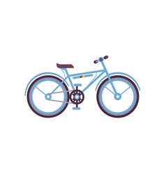 blue bike modern bicycle vector image