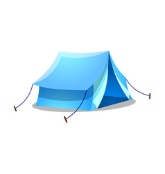 Blue camping ridge tent raster on vector